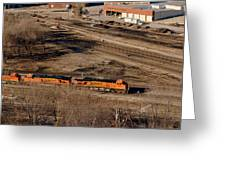 Coming From The Train Yard Greeting Card