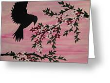 Coming Home To Roost Greeting Card by Cathy Jacobs