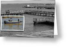 Coming In To Dock Greeting Card
