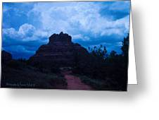 Coming Storm Bell Rock Greeting Card