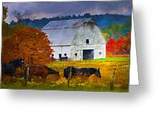 Coming To The Barn Greeting Card