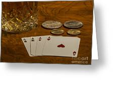 Coming Up Aces Greeting Card