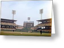 Comiskey Park Photo From The Outfield Greeting Card