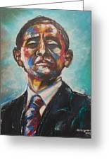 Commander In Chief Greeting Card by Valdengrave Okumu