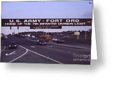 Fort Ord  Commander  Major General Marvin L. Covault  7th Infantry Division 1992 Greeting Card