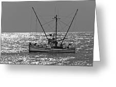 Commercial Fishing Boat Dickey Byrd Out Of Half Moon Bay Greeting Card