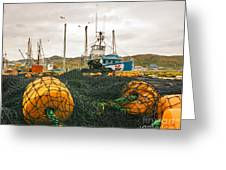 Commercial Fishing In The North Atlantic Greeting Card