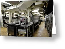 Commercial Kitchen Aboard Battleship Greeting Card