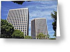 Commercial Office Building Greeting Card
