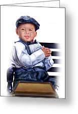 Commissioned - Handsome Baby Boy 1a Greeting Card