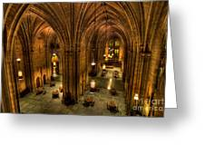 Commons Room Cathedral Of Learning University Of Pittsburgh Greeting Card