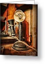 Communication - Candlestick Phone Greeting Card