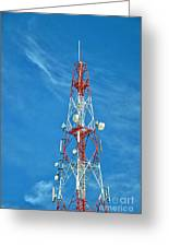 Communications Mast Hua Hin Greeting Card