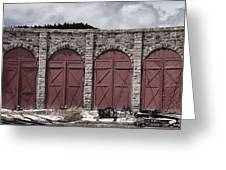 Como Roundhouse Greeting Card by Ken Smith