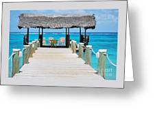 Tranquility At Compass Point, Nassau, Bahamas Greeting Card