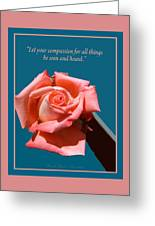 Compassionate Heart Rose Greeting Card
