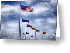 Competing Countries V2 Greeting Card