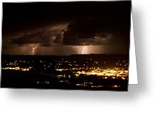 Competing Storms Greeting Card