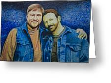 Complete_portrait Of Craig And Ron Greeting Card