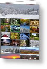 Composite Of Photographs From Various Greeting Card