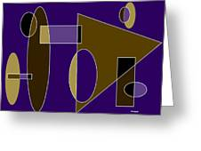 Composition In Browns And Blues Greeting Card