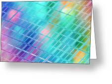 Computer Artwork Of A Semiconductor Wafer Greeting Card