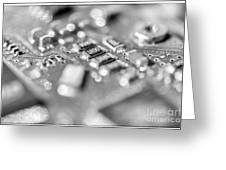 Computer Board High Key Black And White Greeting Card