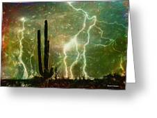 Computer Generated Image Of Lightening Greeting Card