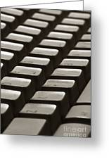 Computer Keyboard Greeting Card