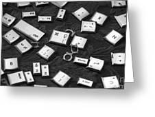 Computer Keys Greeting Card