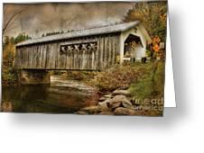 Comstock Bridge 2012 Greeting Card by Deborah Benoit