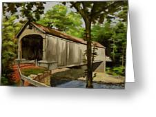 Comstock Covered Bridge East Hamptom Connecticut Greeting Card