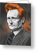 Conan O'brien Artwork Greeting Card