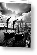 Concarneau Harbour Brittany France Greeting Card