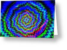 Concentric Hypnotic Circles 1 Greeting Card
