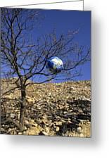 Concept Pollution Greeting Card by Bernard Jaubert