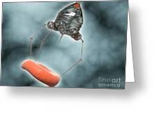 Conceptual Image Of A Nanobot Injecting Greeting Card