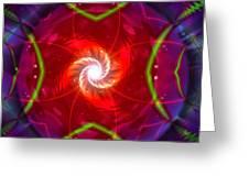 Conceptual Vortex Greeting Card