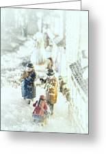 Concert In The Snow Greeting Card