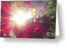 Concert Lights Greeting Card