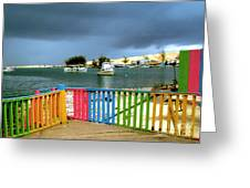 Conch Boats Arriving Greeting Card