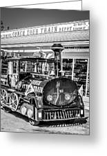 Conch Tour Train 1 Key West - Black And White Greeting Card