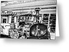 Conch Tour Train 2 Key West - Square - Black And White Greeting Card