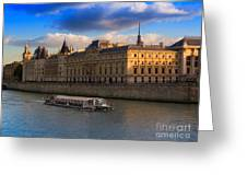 Conciergerie And The Seine River Paris Greeting Card