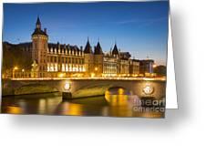 Conciergerie Twilight - River Seine Greeting Card