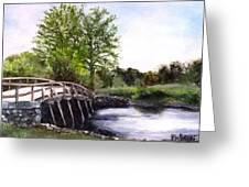 Concord Bridge Greeting Card