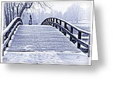 Concord Bridge In Winter Greeting Card by Bill Boehm