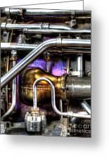 Concord Engine Hdr Greeting Card by SteveHPhotos