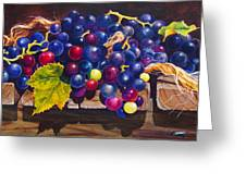 Concord Grapes On A Step Greeting Card by Sarah Luginbill