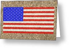 Concrete Flag Greeting Card